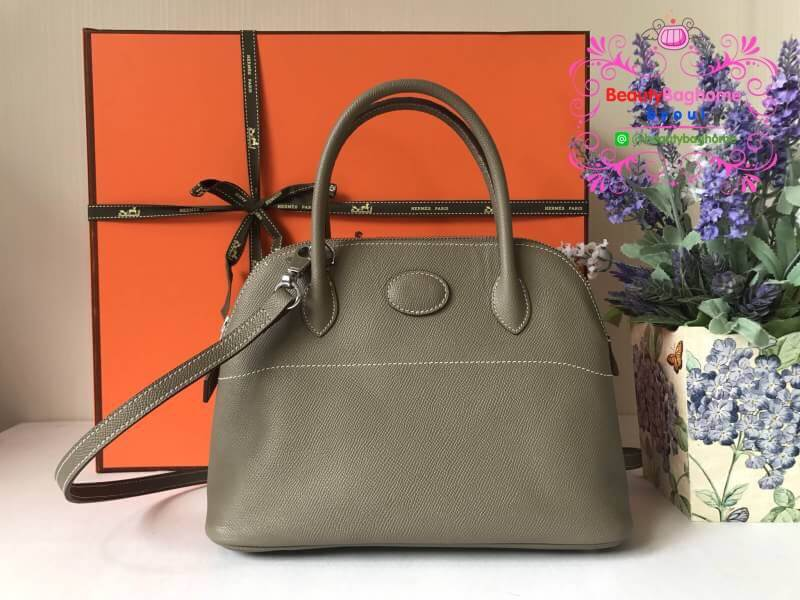 Hermes Bolide Tote Bag 27cm สีเทา งานHiend 1:1