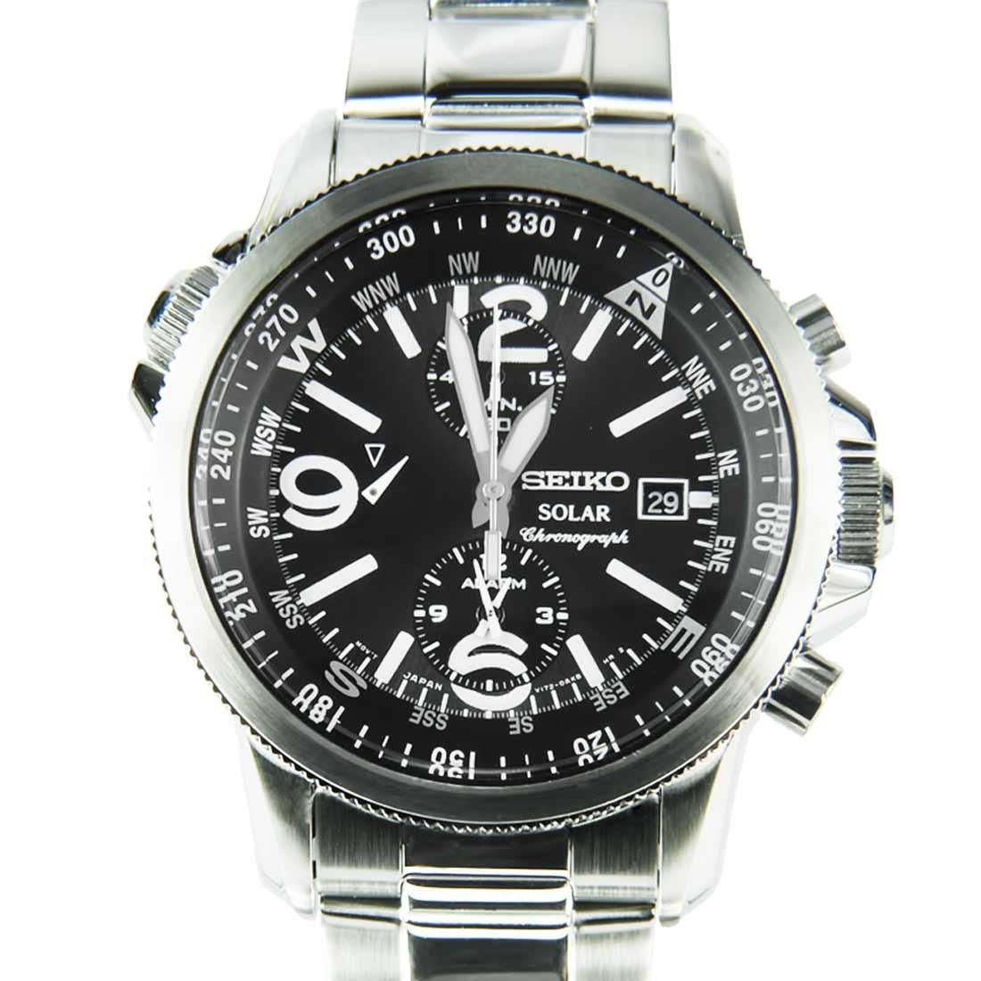 นาฬิกา Seiko Men Chronograph Solar System สายหนัง seiko ssc075P สาย Stainless