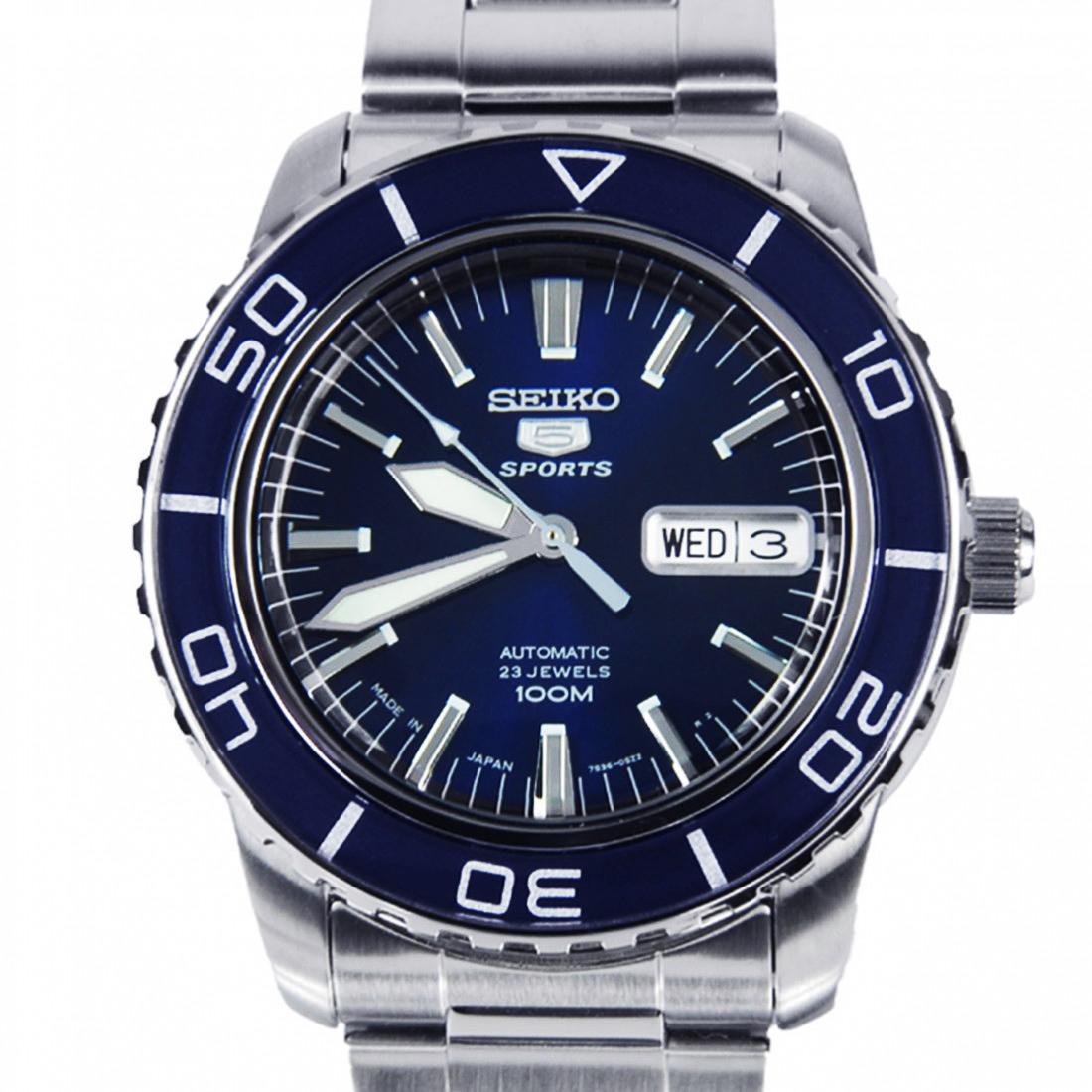 นาฬิกา Seiko Automatic Sports Mens Diver Watch Blue SNZH53K1