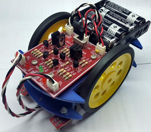 AP107ชุดคิทหุ่นยนต์เดินตามเส้นแบบใช้ทรานซิสเตอร์ANALOG BEAM