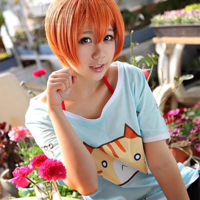ชุดคอสเพลย์หญิงแฟชั่น Love Live! Hoshizora Rin แนวเสื้อยืดน่ารัก
