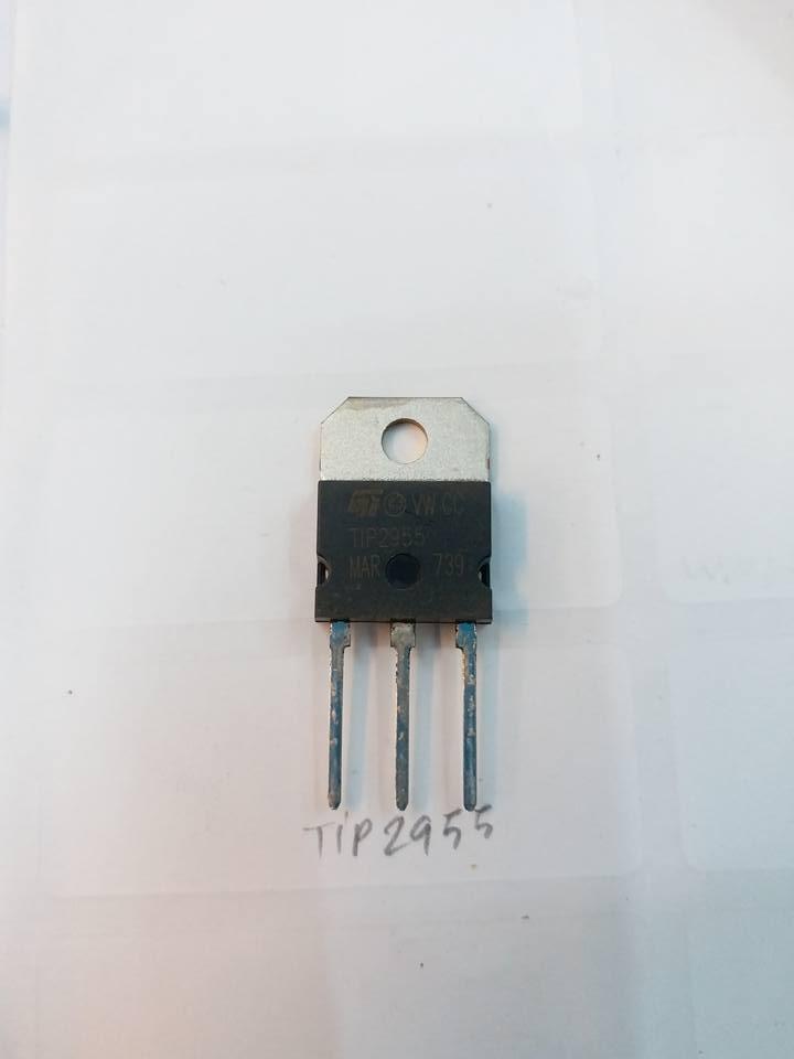 ทรานซิสเตอร์เบอร์TIP2955ราคาตัวล่ะตัวถังTO-3Pยี่ห้อST MICROELECTRONICSTRANSISTERชนิดNPN