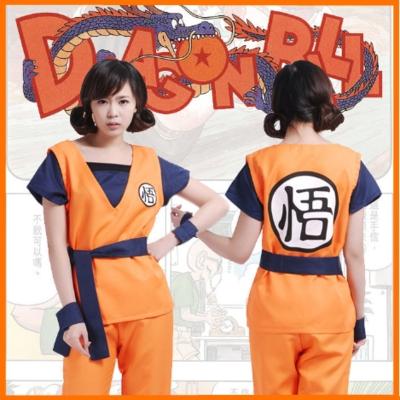 ชุดคอสเพลย์ชายแฟชั่น Dragon Ball โงกุน แนวเครื่องแบบดราก้อนบอล