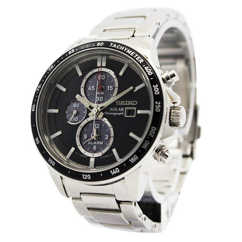 นาฬิกา Seiko Men Chronograph Solar System Black SSC435P