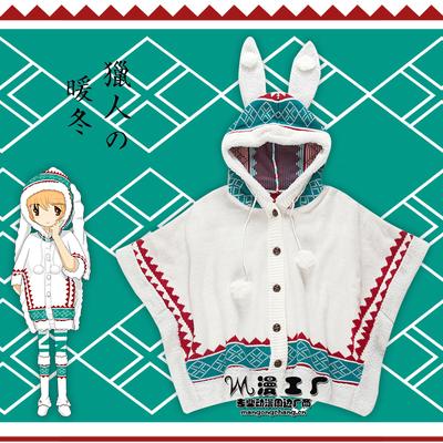 ชุดคอสเพลย์หญิงแฟชั่น Monster Hunter Portable แนวกระต่ายญี่ปุ่นสีขาว