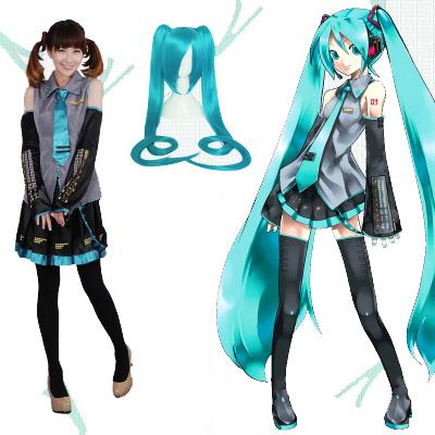 ชุดคอสเพลย์หญิงแฟชั่น Vocaloid Hatsune Miku แนวเครื่องแบบ
