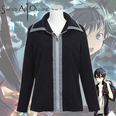 ชุดคอสเพลย์ชายแฟชั่น Sword Art Online Kirigaya Kazuto แจ็กเก็ตแขนยาวสีดำ ดีไซส์เท่