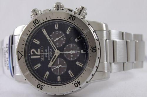 นาฬิกา Seiko Men Chronograph Solar System Driver 100m seiko ssc221P สาย Stainless Silver