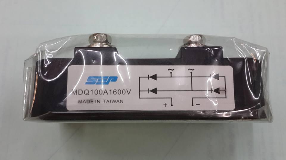 MDQ100A1600Vไดโอดบริดจ์ขันน็อต4น็อตไดโอดบริดจ์เร็กติไฟร์ขันน็อต1เฟส100A1600Vกว้าง4.2ซมXยาว8.2ซมXสูง3.5ซม