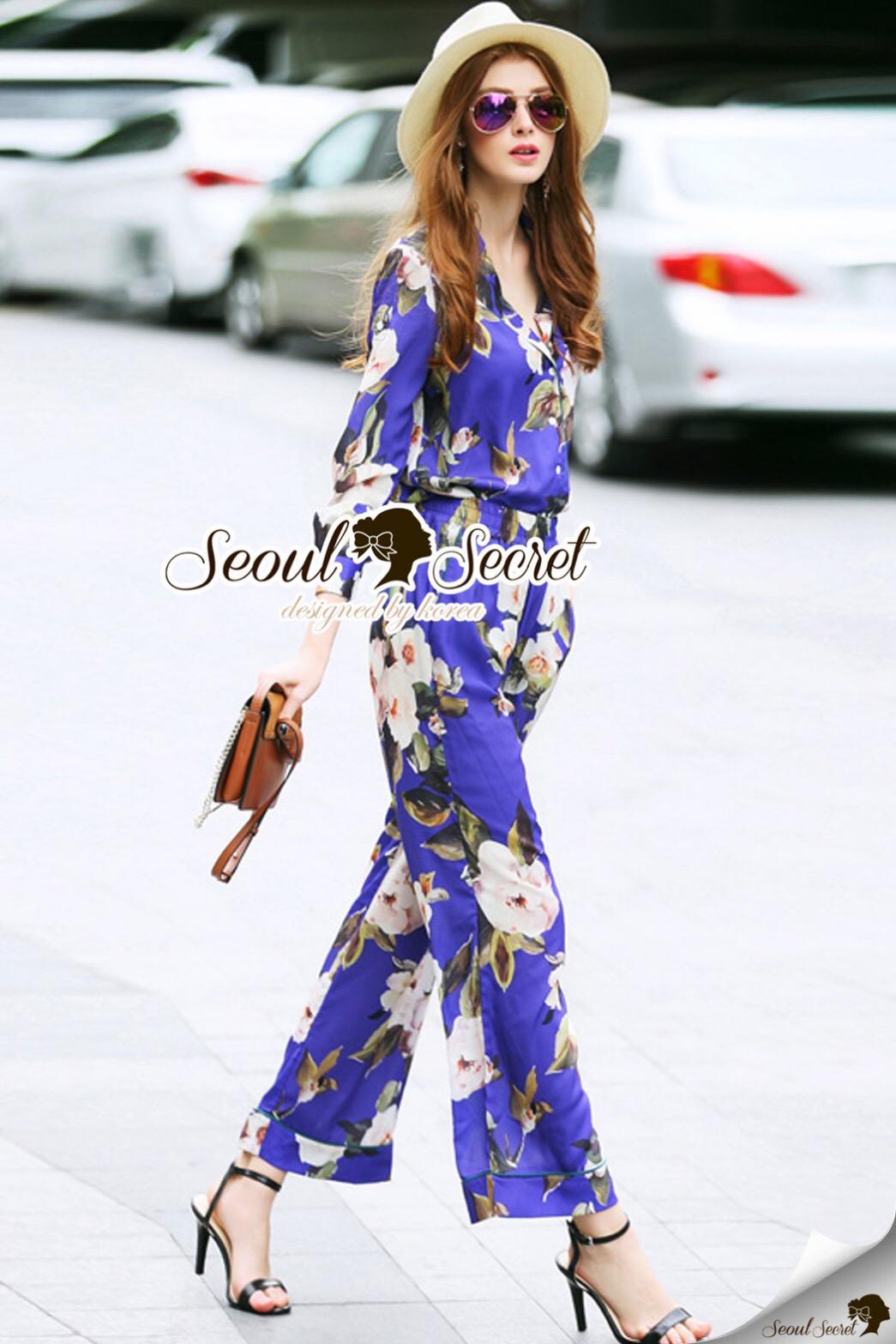 Seoul Secret Say's... Violeta Flora Fashly Smocking Set