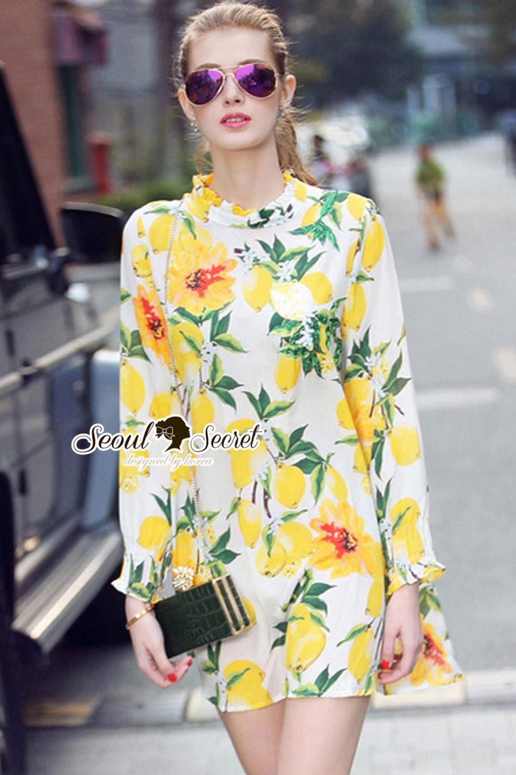Seoul Secret Say's... Lemonnade Handmake Sequin Dress