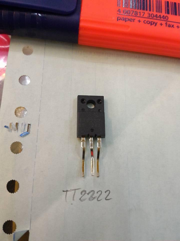 TT2222ทรานซิสเตอรืตัวถังTO-220Fหลังดำราคา
