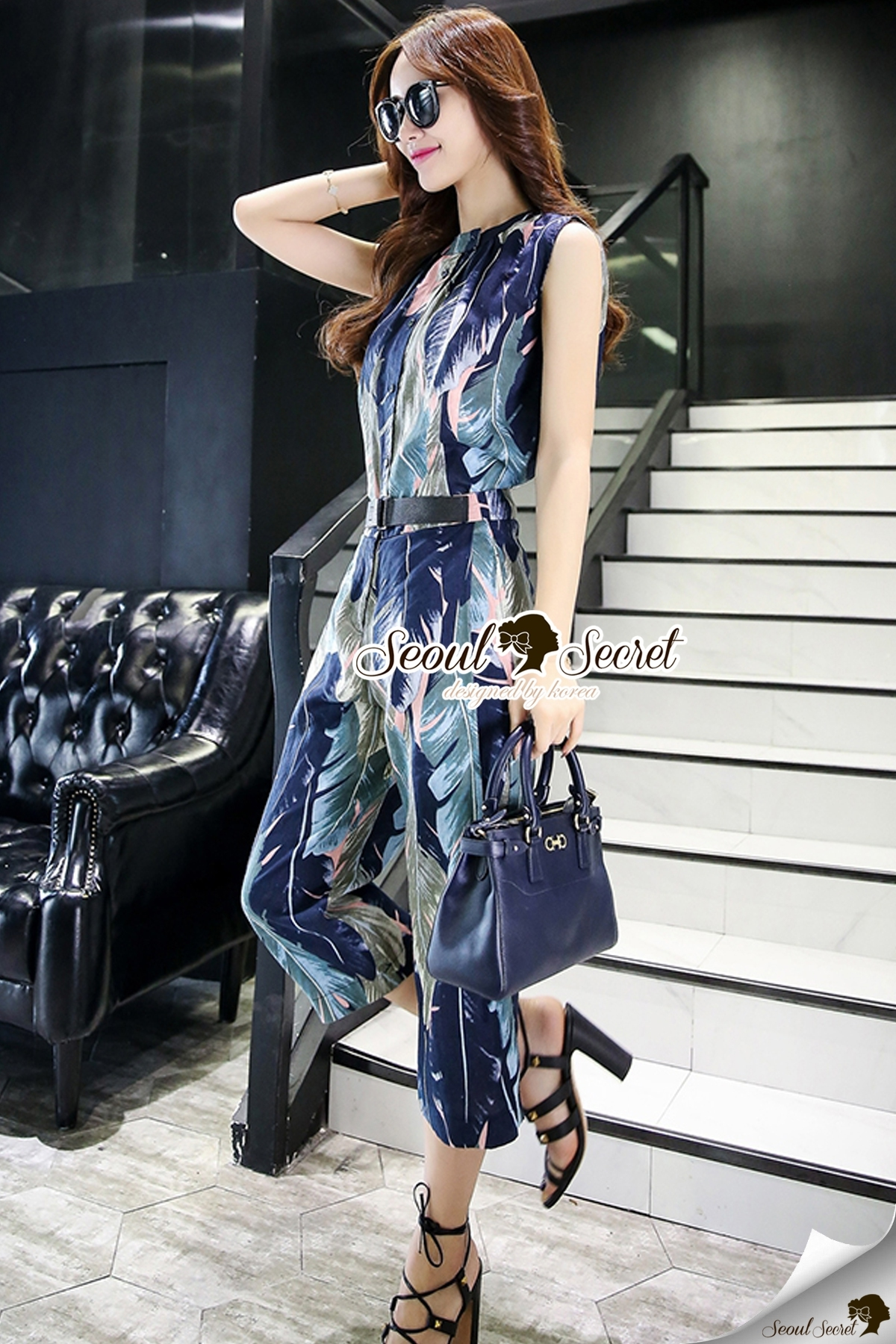 Seoul Secret Say's... Sapphire Blue Leafly Print Set