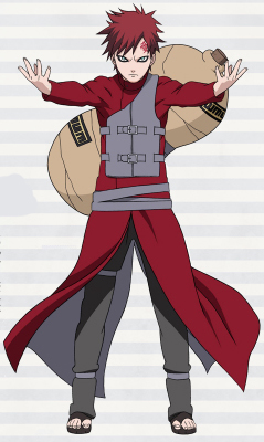 ชุดคอสเพลย์ชายแฟชั่น Naruto Gaara แนวเครื่องแบบนินจา