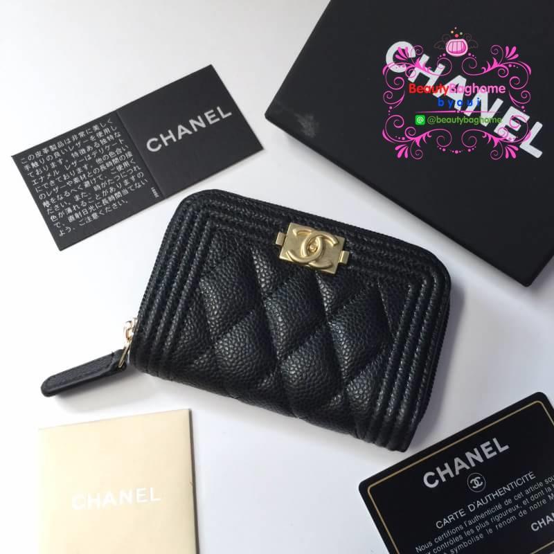 Chanel wallet สีดำ งานHiend