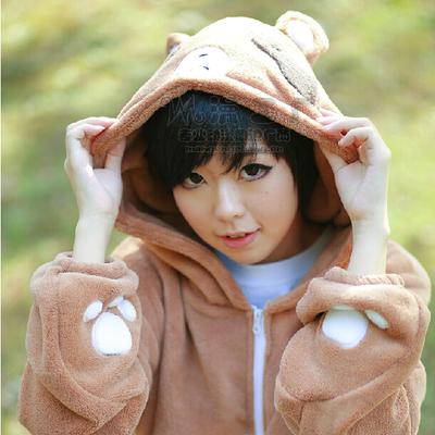 ชุดคอสเพลย์หญิงแฟชั่น Gekkan Shoujo Nozaki-kun แนวเครื่องแบบมีฮู้ดน่ารัก