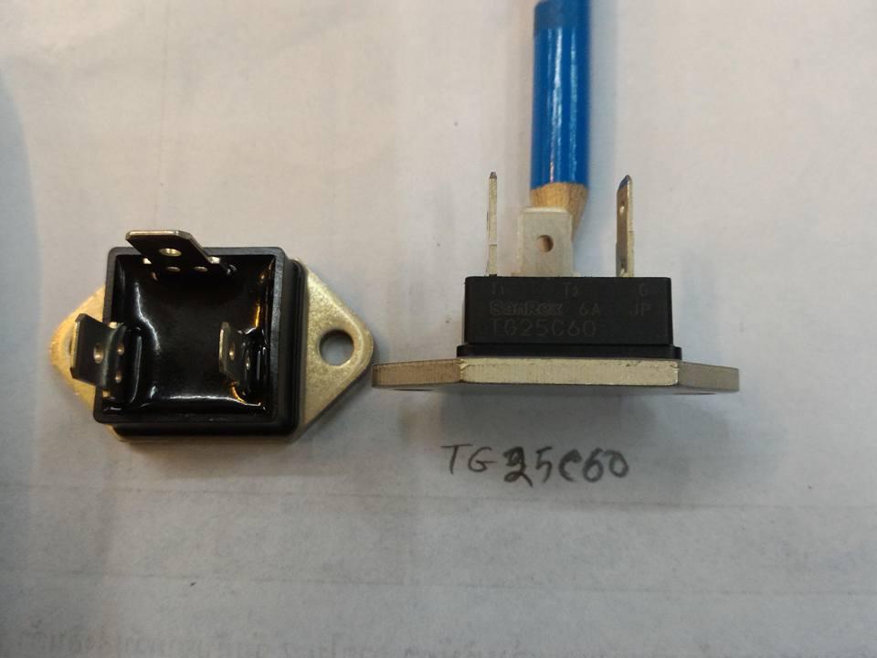 เบอร์TG25C60,ยี่ห้อSANREX,TRIACไตรแอค,เครื่องทำน้ำร้อน,เครื่องทำน้ำอุ่น25A600Vราคาตัวล่ะ
