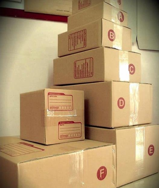 กล่องไปรษณีย์ฝาชน สำหรับลูกค้าสบู่พรทิน่า ไซส์ B