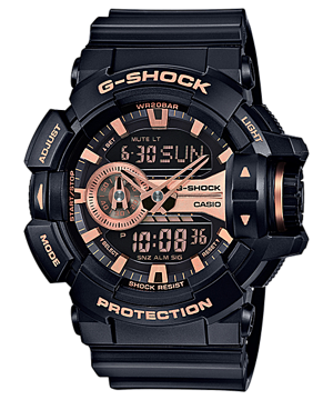 Casio G-Shock Limited Garish Black & Gold Series รุ่น GA-400GB-1A4