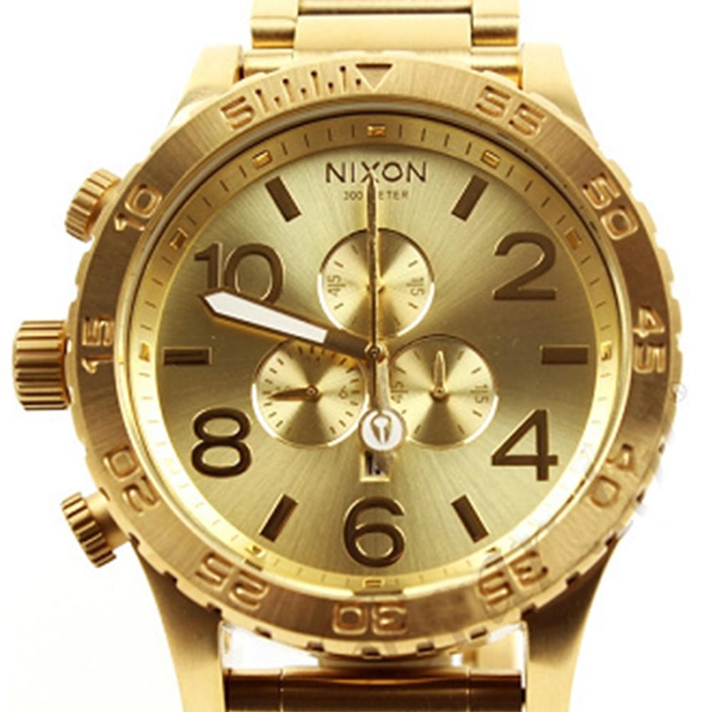 นาฬิกา NIXON Men Chronograph Chronograph Gold Dails Watch A083502 48-20