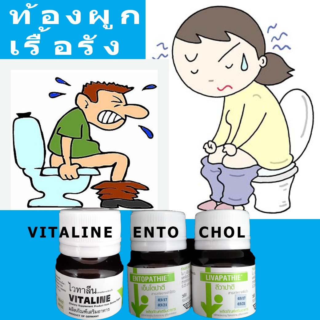 ชุดท้องผูกเรื้อรัง (ไวทาลีน 10 เม็ด+ENTO 30's+ CHOL 30's)