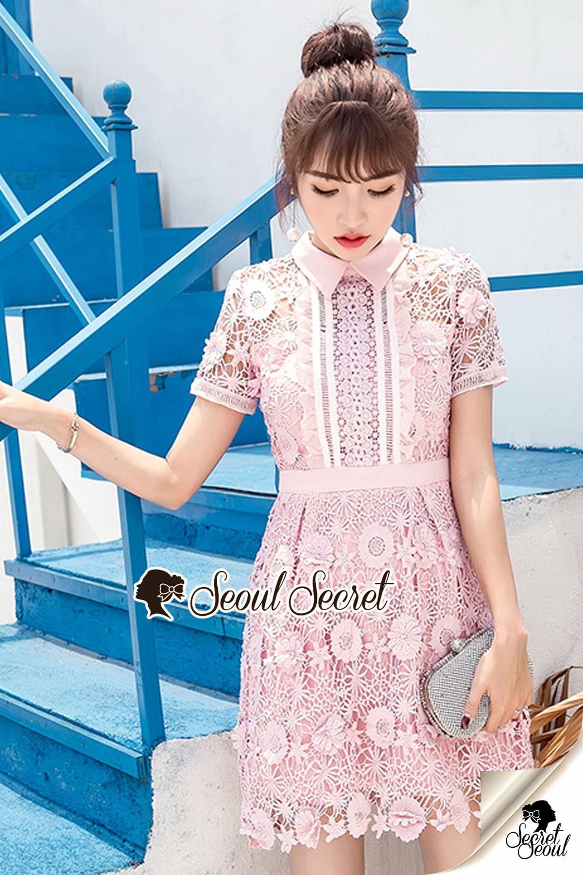 Pink Daisy Lace Dress