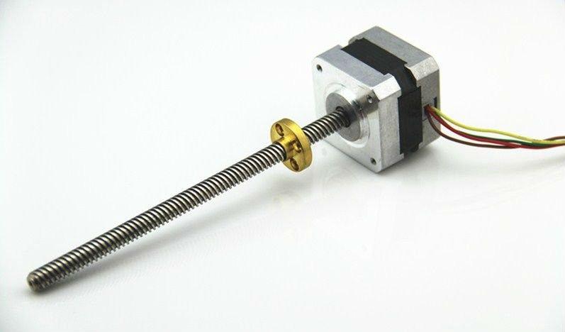 Step motor NEMA 17 แกนเป็น Lead screw Tr8X8 310 mm