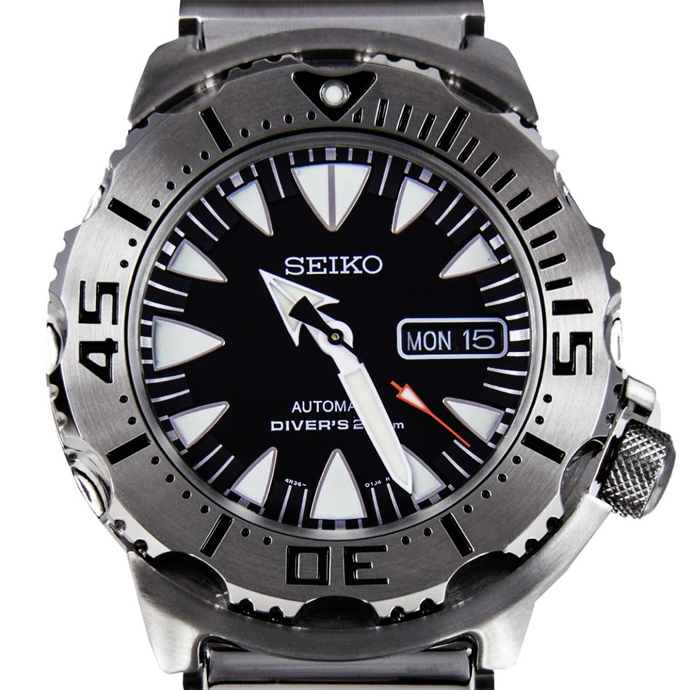 นาฬิกา Seiko Monster Black Fang Stainless SRP307K