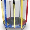 แทรมโพลีน 55 นิ้ว สีรุ้ง สปริงบอร์ดออกกำลังกายเพิ่มความสูง รับน้ำหนักได้ 100 kg สำหรับบ้านพื้นที่น้อยๆ