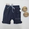 กางเกงสามส่วนเด็ก ผ้ายืด เอวยางยืด สีกรม (S M L)