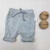 กางเกงสามส่วนเด็ก เอวยางยืด ผ้ายืด สีเทา (S M L)