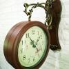 นาฬิกาติดผนัง 2 หน้า สีไม้ ดีไซน์หลุยส์