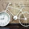 นาฬิกาติดผนังแนววินเทจ รุ่นจักรยานขาว