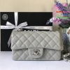 Chanel Classic Flap mini สีเทา งานHiend Original