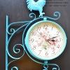 นาฬิกาติดผนัง นาฬิกาแขวนสไตล์วินเทจแต่งบ้าน รูปไก่แจ้