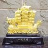 ของมงคลพรีเมี่ยมขึ้นบ้านใหม่ เรือใบหัวมังกรสีทอง+อักษรจีนมงคล