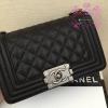 Chanel Boy Caviar Leather สีดำ งานHiend Original