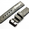 Mid Gray Genuine Leather Back Stingray Leather Watch Strap Pam Buckle 24 mm