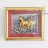 ของขวัญขึ้นบ้านใหม่ตกแต่งบ้านเสริมศิริมงคล รุ่นม้าสีทองกรอบทอง
