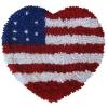 พรมแฟนซี ลาย หัวใจธงอเมริกา