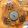 นาฬิกาแขวนผนังลวดดัด รูปร่างดอกไม้ประดับตกแต่งผนังบ้าน สไตล์ Modern ขนาดใหญ่