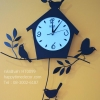 นาฬิกาบ้านนกสีดำ นาฬิกาติดผนังเก๋ๆ