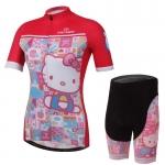 **สินค้าพรีออเดอร์**ชุดปั่นจักรยาน ผู้หญิง Kitty สีแดง ลายน่ารักม๊ากกกคะ แนะนำเลยจ้า
