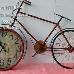 นาฬิกาสไตล์วินเทจ รูปทรงจักรยานวินเทจสีแดงสวยๆเก๋ๆ