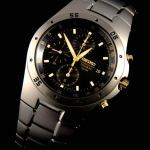 Seiko Titanium Chronograph Watch SND451P