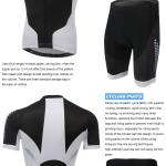 **สินค้าพรีออเดอร์**ชุดจักรยานสีดำขาว (เสื้อแขนสั้น + กางเกงเปั่นจักรยาน)