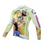 **พรีออเดอร์** เสื้อแขนยาวปั่นจักรยาน ลายการ์ตูน เสื้อจักรยาน ป๊อปอาย สีหลือง สวยไม่ซำ้ใครจ้า