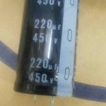 220UF450VDC 105C ขนาดกว้าง25xสูง50มม