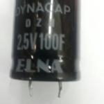 C100F2.5VDC อิเล็กโตรไลท์electrolitetic