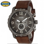 นาฬิกา FOSSIL JR1424 Men Watch Chronograph Leather Strap Chronograph 50 mm